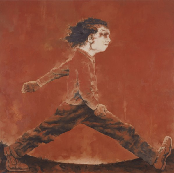 "Su Xinping, ""Man Going About"", 2010; oil on canvas, 250×250cm"