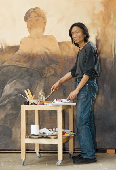 Su Xinping at his studio