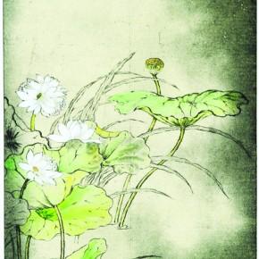 Summer Lotus 89.5 x 40 cm Colour on Intaglio Prints 2011