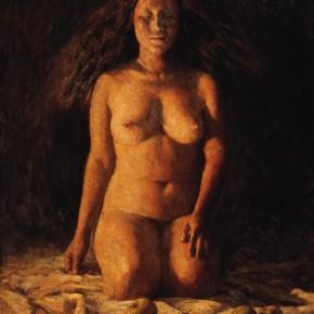 """Sun Weimin, """"Light"""", 1986; oil on canvas, 100×80.3 cm©CAFAM"""