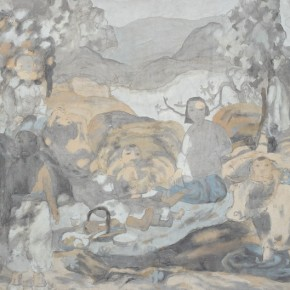"Tian Liming, ""South of Shandong Province"", 1991; Chinese painting, 83×110 cm©CAFAM"