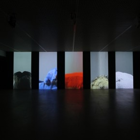 "Wang Gongxin, ""Basic Color""(detail), 2010; Five channel video with sound, 15 min 03"