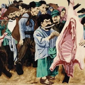 """Wang Huaxiang, """"Plateau Series No2"""", 1988; printmaking, 51×76 cm ©CAFAM"""