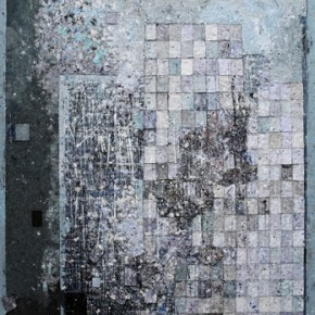 Wu Yiqiang, Visual Reading-Collapse of the Media, 2012; mixed media, 200×150 cm