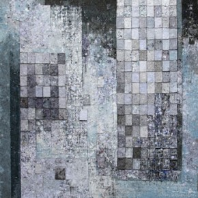 Wu Yiqiang, Visual Reading-Construction of the Media, 2012; mixed media, 200×150 cm