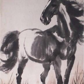 """Xu Beihong, """"Standing Horse"""", 1935; ink on paper, 126.2×74.5cm"""