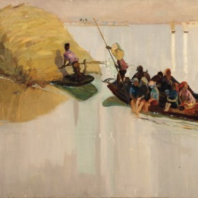 "Yuan Yunsheng, ""Harvest Song"", 1959; oil on canvas, 110×209 cm ©CAFAM"