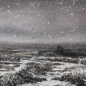 Zhao Bo, Frozen Planet No.4, 2012; oil on canvas, 100×200cm