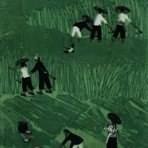 "Zheng Shuang, ""Harvest Season"", 1962; lithograph chromatic, 32×23 cm©CAFAM"