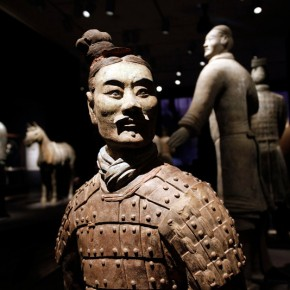 "06 Ten Terracotta Warriors of various ranks are the signature display in the Asian Art Museums new exhibitdetail 290x290 - Asian Art Museum celebrates its 10th anniversary with exhibition ""China's Terracotta Warriors: The First Emperor's Legacy"""