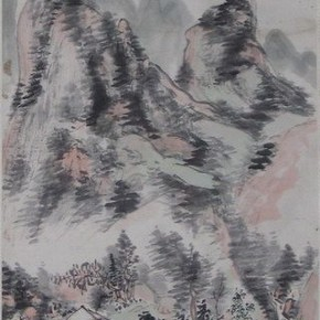 "13 Huang Binhong ""The Landscape of Lin an Figure"" 290x290 - Huang Binhong's Special Exhibition of Landscape Painting on Display at Anhui Museum"