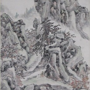 "14 Huang Binhong ""Immortals' Cave House Figure"" 290x290 - Huang Binhong's Special Exhibition of Landscape Painting on Display at Anhui Museum"