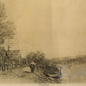 """Alfred Sisley, """"Border of Loiret"""", 1890-1891"""