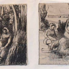 "Camille Pissarro, ""Loggers"" ""Farmer Group"", 1896"
