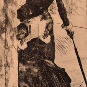 "Edgar Degas, ""Museum of Louvre"", 1879-1880"