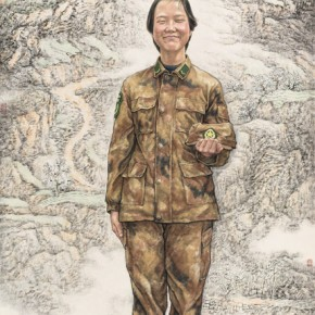 """Fan Mo""""FemaleSoldierBorn in 1990s"""" 290x290 - 2012 National Exhibition of Chinese Paintings on view at the China Art Museum"""