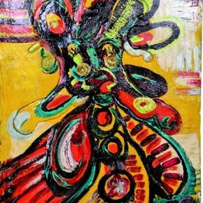 "Fathiya Tahiri Street Art 1 140×102cm 290x290 - Exhibition by Moroccan artist Fathiya Tahiri ""Introspection"" opens March 1 at the National Art Museum of China"