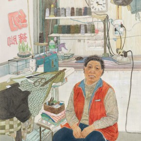 """Huang Xingli""""Mother's Sewing Shop"""" 290x290 - 2012 National Exhibition of Chinese Paintings on view at the China Art Museum"""