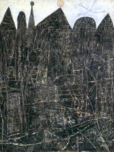 """Jean Dubuffet, """"Large Black Landscape"""", 1946"""
