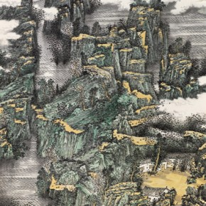"""JiangHaiqing""""Song ofSpring Lijiang River"""" 290x290 - 2012 National Exhibition of Chinese Paintings on view at the China Art Museum"""