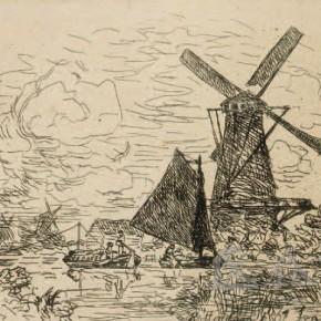 "John Barthold Content Kinder, ""The Dutch Windmill"", 1868"