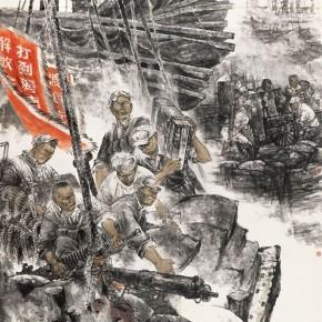 "Li Shengjian""The Liberation of Hainan Island"" 290x290 - 2012 National Exhibition of Chinese Paintings on view at the China Art Museum"