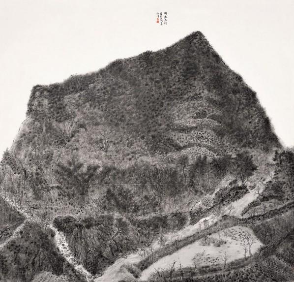 """Liu Shiwei,""""Taihang Mountain in the Rain"""""""