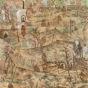 """Liu Yuguo""""Permanent Sand"""" 290x290 - 2012 National Exhibition of Chinese Paintings on view at the China Art Museum"""