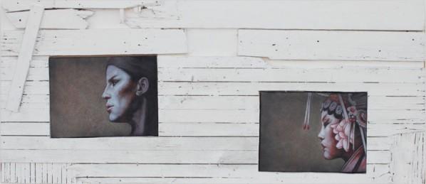 "Ma Lin, ""Collision"", oil on canvas"