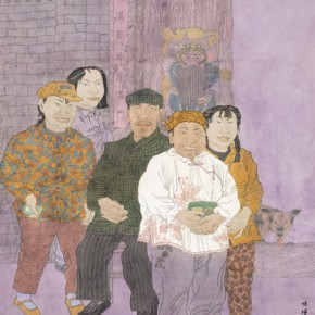 """Mao Baozeng""""Auspicious Day"""" 290x290 - 2012 National Exhibition of Chinese Paintings on view at the China Art Museum"""