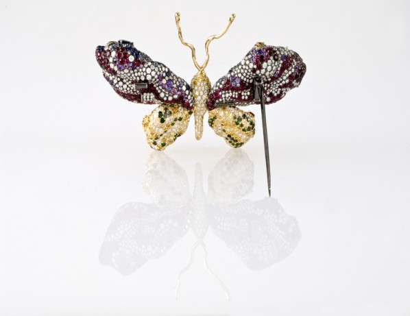 Back view of the Cindy Chao Black Label Masterpiece Royal Butterfly Brooch. Photo: Cindy Chao.