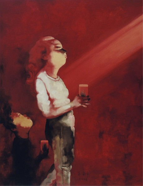 Su Xinping, Cheers No. 21, 2006; oil on canvas, 260×200cm © Courtesy Printmaking Department of CAFA