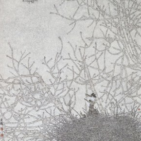 """Tan Changlong and Zhao Xuedong""""Nest·Dawn"""" 290x290 - 2012 National Exhibition of Chinese Paintings on view at the China Art Museum"""