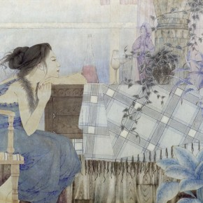 """Xiao Zhiwei""""Solitude ofMidsummer"""" 290x290 - 2012 National Exhibition of Chinese Paintings on view at the China Art Museum"""