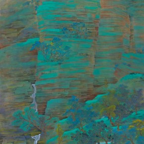 """XuZiqing""""Layers of RocksColored inGreen"""" 290x290 - 2012 National Exhibition of Chinese Paintings on view at the China Art Museum"""