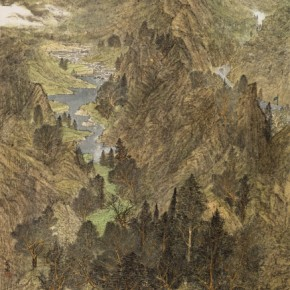 """Yang Maozong""""Looking to theXiyuan"""" 290x290 - 2012 National Exhibition of Chinese Paintings on view at the China Art Museum"""