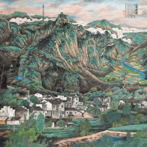 """Ye Nong""""NewMountain Village"""" 290x290 - 2012 National Exhibition of Chinese Paintings on view at the China Art Museum"""