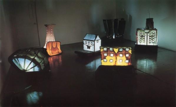 """Yin Xiuzhen, """"Suitcases"""", 2000"""