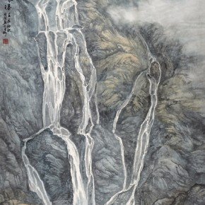 """Zhou Wen""""Waterfall Ode"""" 290x290 - 2012 National Exhibition of Chinese Paintings on view at the China Art Museum"""