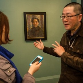 """01 Installation View of Long lasting Fragrance – Study on Li Shutong' Oil Paintings at CAFAM 290x290 - """"Li Shutong's Self-Portrait"""" Reached the CAFA Art Museum and Successfully Fixed on the Wall"""