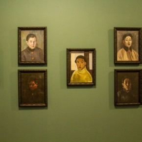 """02 Installation View of Long lasting Fragrance – Study on Li Shutong' Oil Paintings at CAFAM 290x290 - """"Li Shutong's Self-Portrait"""" Reached the CAFA Art Museum and Successfully Fixed on the Wall"""