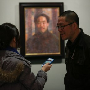 """05 Installation View of Long lasting Fragrance – Study on Li Shutong' Oil Paintings at CAFAM 290x290 - """"Li Shutong's Self-Portrait"""" Reached the CAFA Art Museum and Successfully Fixed on the Wall"""
