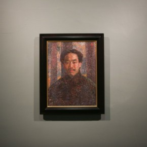 """06 Installation View of Long lasting Fragrance – Study on Li Shutong' Oil Paintings at CAFAM 290x290 - """"Li Shutong's Self-Portrait"""" Reached the CAFA Art Museum and Successfully Fixed on the Wall"""