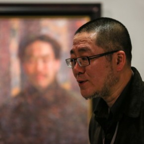 """07 Installation View of Long lasting Fragrance – Study on Li Shutong' Oil Paintings at CAFAM 290x290 - """"Li Shutong's Self-Portrait"""" Reached the CAFA Art Museum and Successfully Fixed on the Wall"""