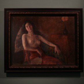 """11 Installation View of Long lasting Fragrance – Study on Li Shutong' Oil Paintings at CAFAM 290x290 - """"Li Shutong's Self-Portrait"""" Reached the CAFA Art Museum and Successfully Fixed on the Wall"""