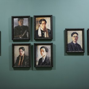 """13 Installation View of Long lasting Fragrance – Study on Li Shutong' Oil Paintings at CAFAM 290x290 - """"Li Shutong's Self-Portrait"""" Reached the CAFA Art Museum and Successfully Fixed on the Wall"""