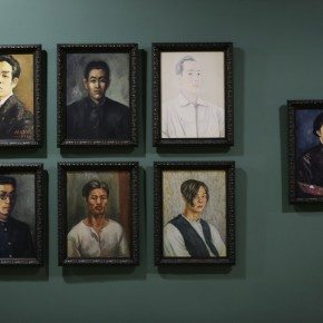"""14 Installation View of Long lasting Fragrance – Study on Li Shutong' Oil Paintings at CAFAM 290x290 - """"Li Shutong's Self-Portrait"""" Reached the CAFA Art Museum and Successfully Fixed on the Wall"""