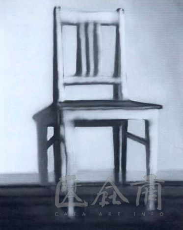 "Gerhard Richter, ""Kitchen Chair"", 1965, 100 x 80 cm, oil on canvas"