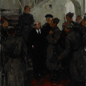 "Guo Shaogang ""Lenin and Chinese Soldiers"" 1958 oil painting 66 x 55 cm Collection GAFA Art Museum 290x290 - The 20th China's Art Road - Studying in the Soviet Union Inaugurated at National Art Museum of China"