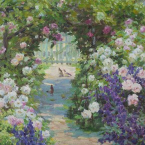 "Huang Jufen ""Garden Path"" oil on canvas 50 x 61 cm 2010 290x290 - Shenzhen Outstanding Painters Series: Academic Research Exhibition of Huang Jufen held at Guan Shanyue Art Museum"